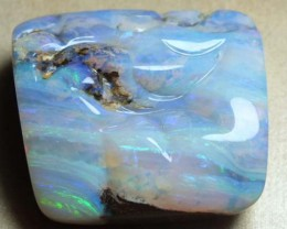 62.45cts Quality Australian Boulder Opal Carved Stone EX2