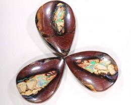 41cts 3pcs Quality Australian Boulder Opal Cut Parcel C155