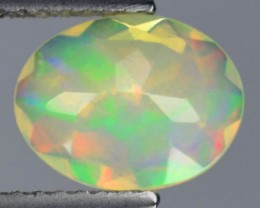 1.00 Cts Natural Ethiopian Multi Color Play Faceted Opal - NR Auction