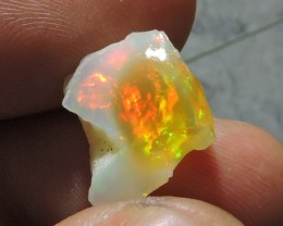 4.80ct ETHIOPIAN WELLO CRYSTAL ROUGH OPAL MULTI FIRE
