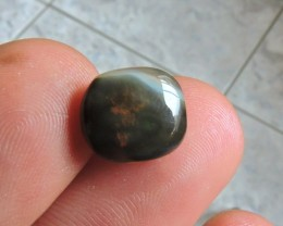 4.30ct ETHIOPIAN WELLO DARK OPAL CAB SOFT RED FIRE
