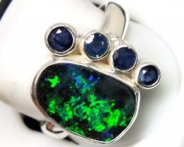 Solid Opal & Australian Sapphire Rings