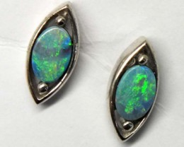 DOUBLET SILVER  EARRINGS  7.20  CTS    OF-911