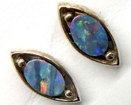 DOUBLET SILVER  EARRINGS  7  CTS    OF-914