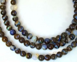 BOULDER OPAL BEADS 75 CTS  LO-1781
