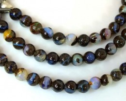BOULDER OPAL BEADS  60 CTS  LO-1792
