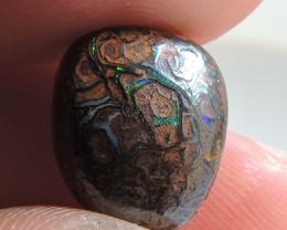 9.50ct KOROIT BOULDER OPAL FREEFORM POLISHED CAB GREEN BLUE FIRE