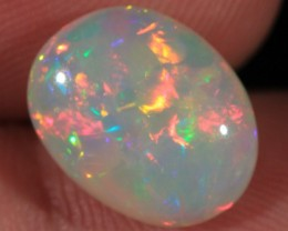 3.68CT~VERY BRIGHT WELO OPAL CAB~METALLIC PATCHWORK/MIX