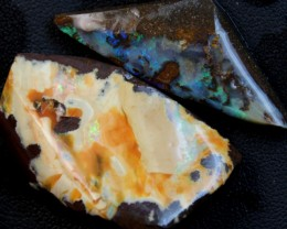 106 CTS 2 PCS BOULDER OPAL RUB FACED FOR EASY CUTTING