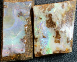 75.4 CTS 2 PCS BOULDER OPAL RUB FACED FOR EASY CUTTING