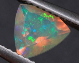 0.57CT~BRIGHT ETHIOPIAN WELO OPAL~FACETED TRILLIANT