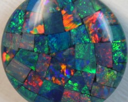 14.9 cts AAA + MOSAIC TOP CRYSTAL OPAL USE TO MAKE THESE MOSAICS C8394