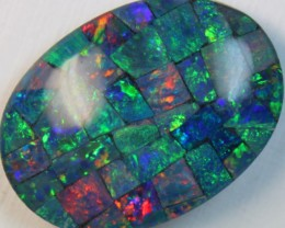 16.8 cts AAA + MOSAIC TOP CRYSTAL OPAL USE TO MAKE THESE MOSAICS C8417