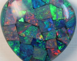 14.3 cts AAA + MOSAIC TOP CRYSTAL OPAL USE TO MAKE THESE MOSAICS C8421