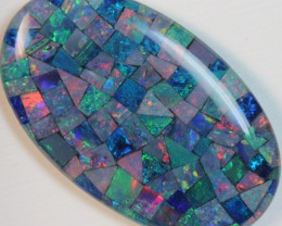 70 cts AAA + MOSAIC TOP CRYSTAL OPAL USE TO MAKE THESE MOSAICS C8435