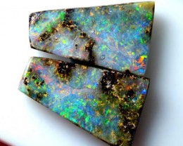 BOULDER OPAL PAIR POLISHED STONE 21.35 CTS  INV-NC_2452
