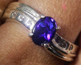 Doublet  Opal Silver Ring  AGR 1120