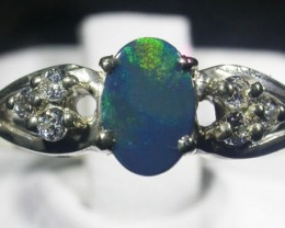 Doublet  Opal Silver Ring  AGR 1121
