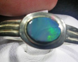 Doublet  Opal Silver Ring  AGR 1134