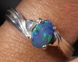 Cute Doublet  Opal Silver Ring size 5.5   AGR 1136
