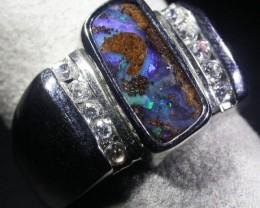 Boulder Opal Silver Ring  AGR 1147