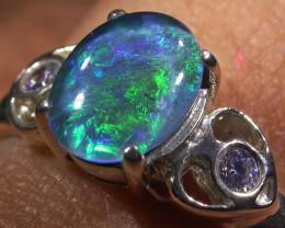 Triplet Opal Silver Ring  AGR 1167