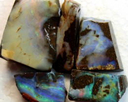 145 CTS 5 PCS BOULDER OPAL RUB FACED FOR EASY CUTTING PARCEL  ARR4581