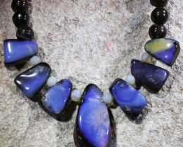 100.4 CTS BOULDER OPAL NECKLACE [SOJ4880]SH