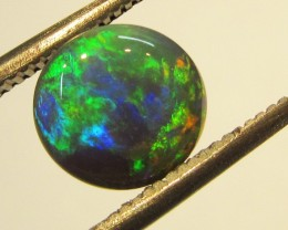 Nice Cabochon sunset fire  Black Opal AGR 1403