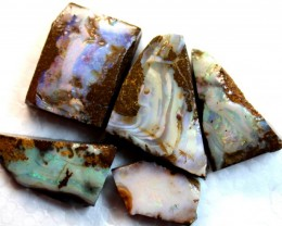 141.3 CTS 5 PCS  BOULDER OPAL RUB FACED FOR EASY CUTTING  ARR4629