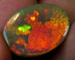 HUGE 23.3 CT X Rare Natural Dark Welo Honeycomb Opal