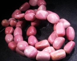 152.3 CTS PINK OPAL BEAD STRAND -TOP POLISH! [VS6767]