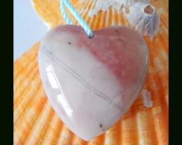 17 Cts Smart Pink Opal Heart Bead,Lovely Bead