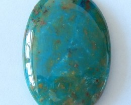 34 Cts Natural Blue Opal  Cabochon
