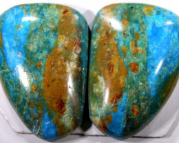 8.90 CTS BLUE PERUVIAN OPAL PAIR  1 TBO-3418