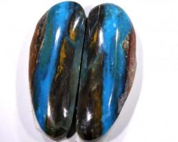 14.70 CTS  BLUE PERUVIAN OPAL PAIR   TBO-3425