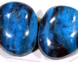 13.30 CTS  BLUE PERUVIAN OPAL PAIR TBO-3426