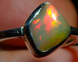 $1 NR Auction 6.50sz Natural Ethiopian Welo Opal .925 Sterling Silver