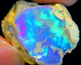 13Ct Aurora Lights Purple Green Natural Ethiopian Welo Rough Opal