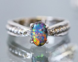 White Gold Opal Engagement Rings