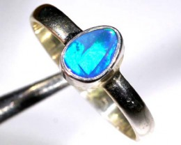 DOUBLET OPAL SILVER RING  9.30 CTS OF-928