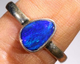 DOUBLET OPAL SILVER RING 11.25  CTS OF-930