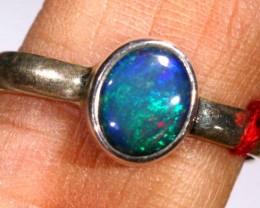 DOUBLET OPAL SILVER RING 10.60  CTS OF-931