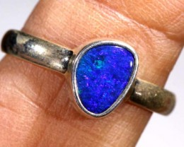 DOUBLET OPAL SILVER RING 9.85  CTS OF-932