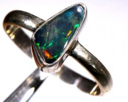 DOUBLET OPAL SILVER RING  12 CTS OF-933