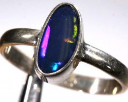DOUBLET OPAL SILVER RING 11.25  CTS OF-934