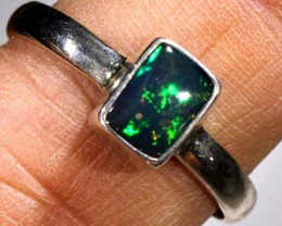 DOUBLET OPAL SILVER RING 10.80  CTS OF-936