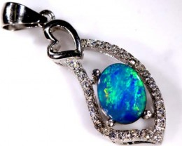 DOUBLET OPAL SILVER PENDENT   7.85 CTS   OF-939