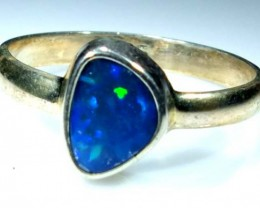 DOUBLET OPAL SILVER RING 10.60  CTS OF-942