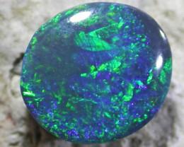 Deep dark Green blue fire Opal QOM 1591